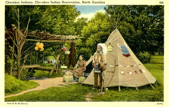 What did the Cherokee Indians live in?