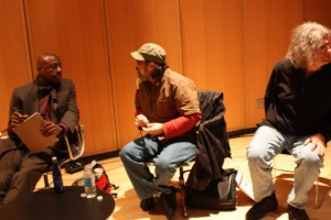 David Henderson, Michael Rothenberg and Ammiel Alcalay At CUNY NYC